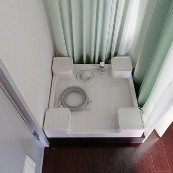 【リビング12帖】洗濯機置場…!程よく、生活感を隠せますね◎