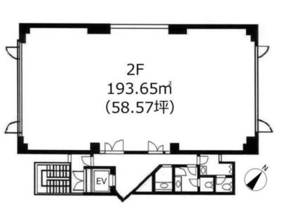 白金台 58.5坪 オフィス の間取り