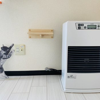 暖房も完備。