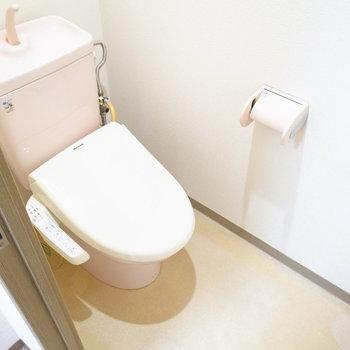 トイレは温水洗浄便座つき!
