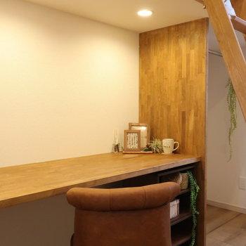【上階】ロフト下の空間を机として活用◎※写真は前回募集時のものです