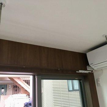室内物干し竿も設置できますよ〜※写真は4階の同間取り別部屋のものです