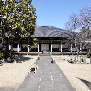 日暮里駅とお部屋までの間に、護国山尊重院天王寺というお寺がありました。
