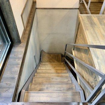 階段を下りて地下へ。