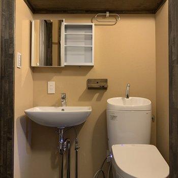温水洗浄便座付きのトイレが完備。