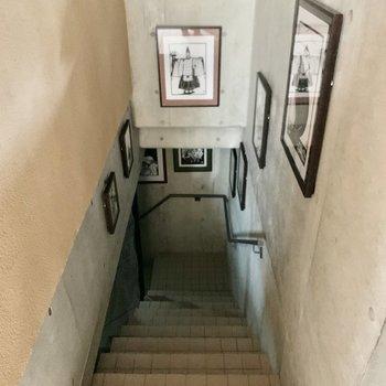地下へ。エレベーターでも行けます。