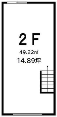 高円寺 14.89坪 オフィス の間取り