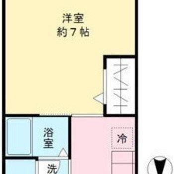 約7帖のお部屋です。