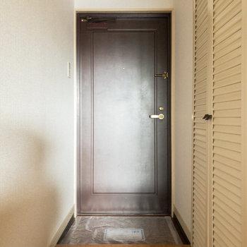 玄関。靴を2~3足くらい並べておけます。