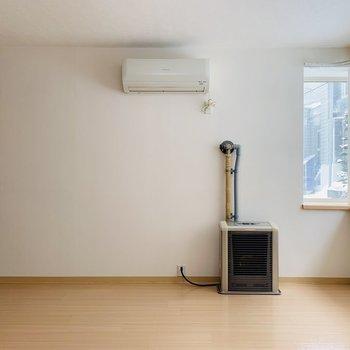 冷暖房設備も充実。冬はストーブの近くがテリトリーに、、