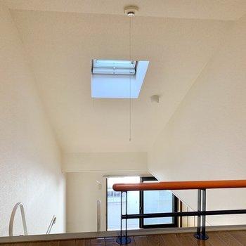 【洋室7.5帖】ロフトからは天窓がしっかりと視界に入ります。