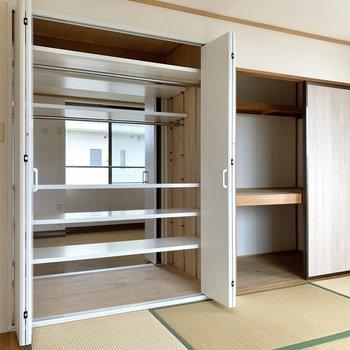 【和室】クローゼットだけでなく、押入もあるので収納力がありますね。