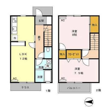 2階の和室は実際は洋室です。