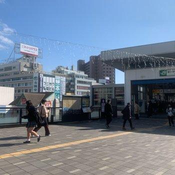 最寄りの藤沢駅です。