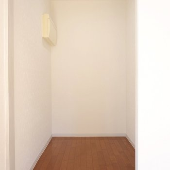 【洋室12帖】ウォークインクローゼットのように使えそうなスペースも。