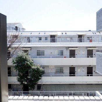 【洋室6帖】建物が多いですが、空も見えるんです。
