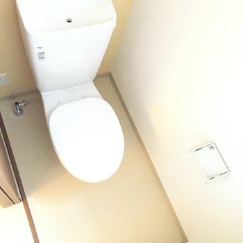 トイレはちょうどいい広さ。