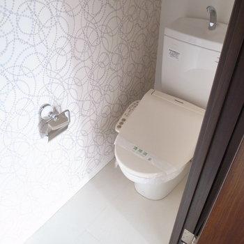 リラックスできそうなトイレ。
