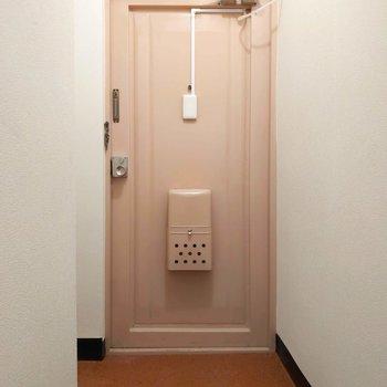 玄関はややコンパクト。