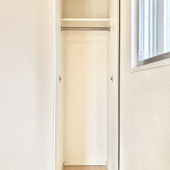 キッチン側のクローゼットは小さめ。