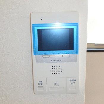 【設備】モニターで訪問者を確認できます