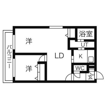 1LDKのデザイナーズのお部屋です。※バルコニーはありません