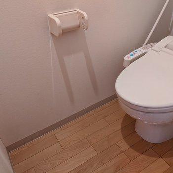 シンプルで綺麗なトイレ。