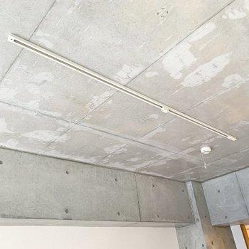 天井もコンクリート打ちっ放し、お好みのライトをお付けください