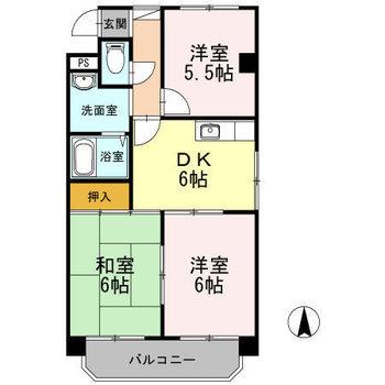 3DKのお部屋です