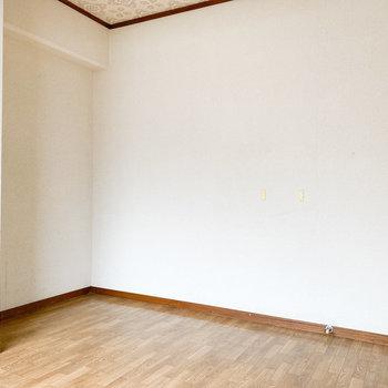 【洋室5.5帖】ここには収納棚を置こうかな
