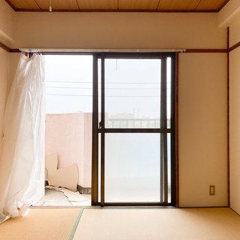 【和室】木の天井です