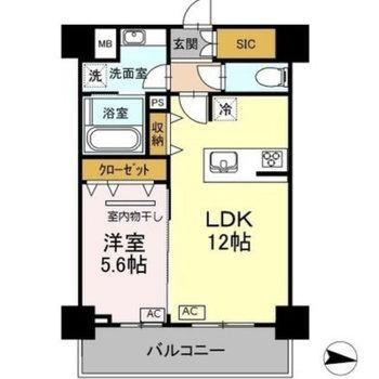 2人暮らしにおすすめのお部屋です。