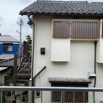 眺望は向かいの住宅