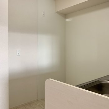 【LDK】冷蔵庫は後ろに置けますね。