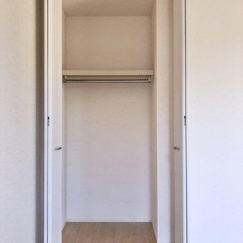 【洋室①】収納には奥行きがあり、中に3段ボックスを入れても良さそうです。