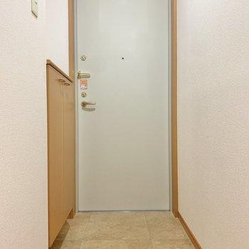 段差低めの玄関です。