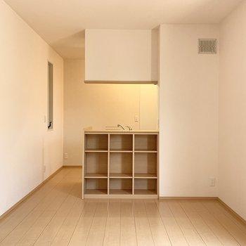 棚には本や雑貨を入れたいな。