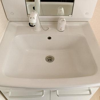 シャワーヘッドで掃除も楽々。
