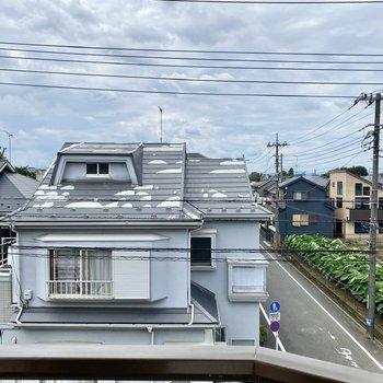 眺望は向かいの建物と広がる大空。