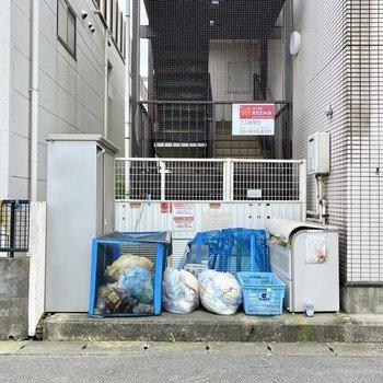 敷地内にゴミ置き場があるので、お出かけ前にさっとゴミ出しできます。