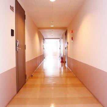 共用部は広〜い廊下