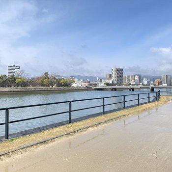 大きな川が気持ちよかったです。