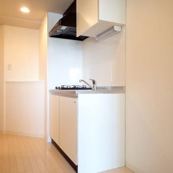 冷蔵庫と収納も置けそうな広さ!