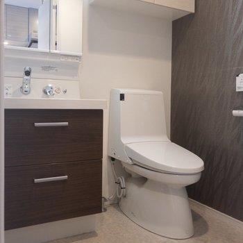 洗面所とトイレは同じ空間に※写真は前回募集時のものです