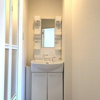 洗面台はお風呂場の隣