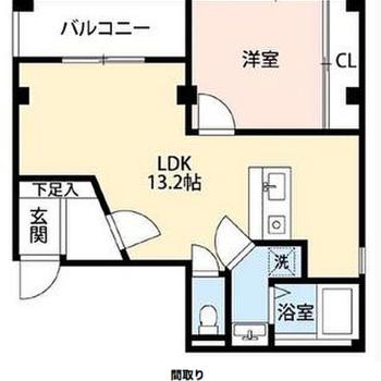 個性的な形のお部屋