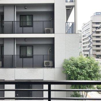 眺望は道路と隣のマンションが見えます。
