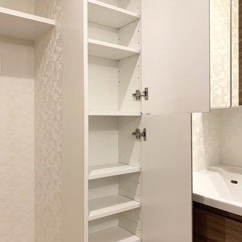 タオルやスキンケア用品を入れたいな。※写真は5階の同間取り別部屋のものです