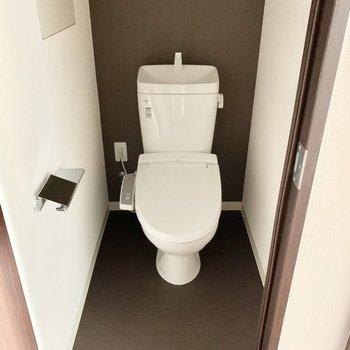 やっぱりトイレは個室じゃないと。※通電前の写真です