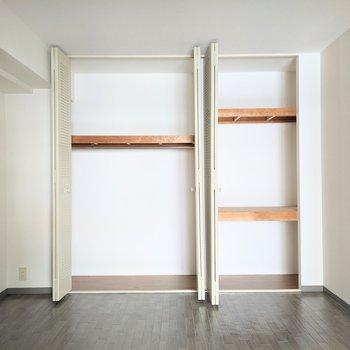 【洋室】大容量の収納は2箇所にあります。